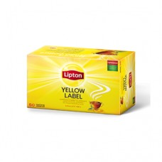 Чай Lipton Липтон черный Yellow label 50 пакетов