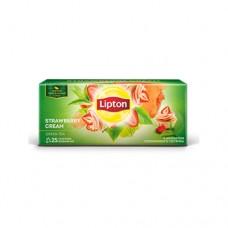 Чай Lipton Липтон зеленый Клубничный крем 25 пакет
