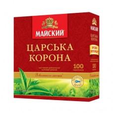 Чай Майский Царская корона черный 100 пакетов