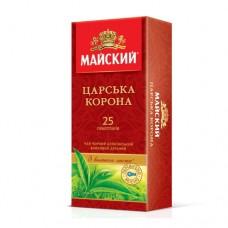 Чай Майский Царская корона черный 25 пакетов