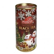 Чай черный Мервин Mervin New Year Снеговик(ВОР)150г банка