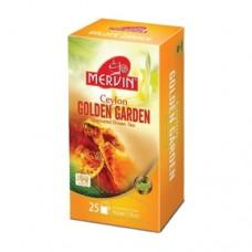 Чай зеленый Мервин Mervin Золотой Сад 25 пакетов