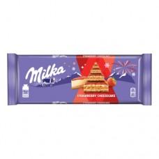 Шоколад Милка Strawberry Cheesecake Клубника 300г