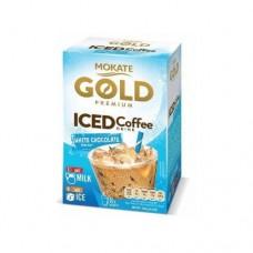 Кофейный напиток Mokate Мокате Gold ICED со вкусом белого шоколада 8 стиков по 15г