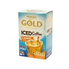 Кофейный напиток Mokate Мокате Gold ICED со вкусом карамели 8 стиков по 15г
