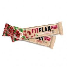 Шоколадный батончик мюсли FitPlan с вишней и клюквой 25г