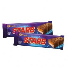 Шоколадный батончик STARS c нугой и карамелью 50г