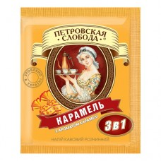 Кофе Петровская Слобода растворимый 3в1 карамель 25 пакет