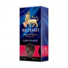 Чай Richard Ричард черный Английский завтрак 25 пакетов