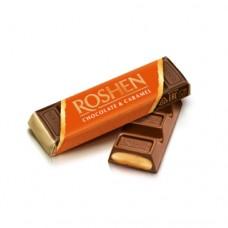 Батон Рошен молочно-шоколадный с карамельной начинкой (оранжевый) 43г