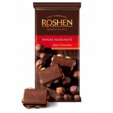 Шоколад Рошен экстрачерний с целым лесным орехом 90г