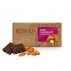 Шоколад Рошен черный с подсоленный миндалём 90г