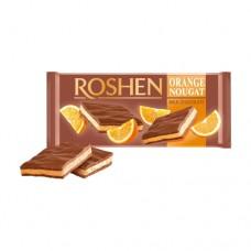 Шоколад Рошен молочный с апельсиновой нугой 90г