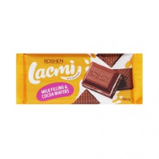 Шоколад Рошен молочный с молочной начинкой и вафлей 105г