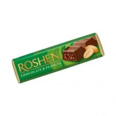 Батон Рошен молочно-шоколадный с арахисовой начинкой (зеленый) 38г