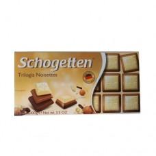 Шоколад Schogetten Трилогия Орех 100г