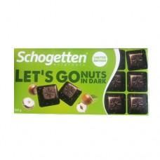 Шоколад Schogetten Lets Go соленое печенье арахис 100г