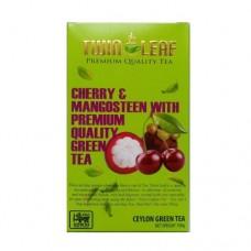 Чай Twin Leaf зеленый мангустин черешня 100г