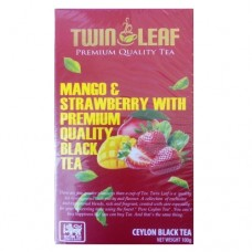 Чай Twin Leaf черный Клубника манго 100г