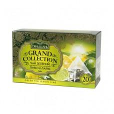 Чай Тянь Шань Лимон-Лайм зеленый 20 пирамидок