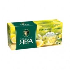 Чай Принцесса Ява зеленый Сочный лимон 25 пакетов